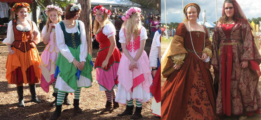 create your own costumes for the renaissance fair festival