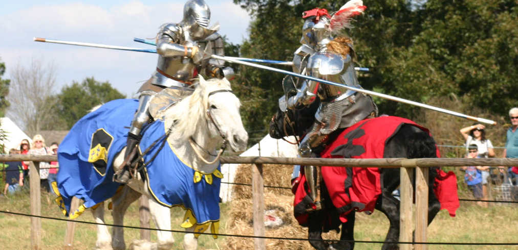 Jousting Knights at the Mobile Renaissance Fair